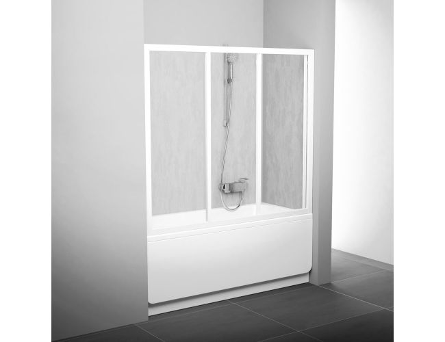 Шторка для ванны AVDP3- 170 TRANSPARENT WHITE