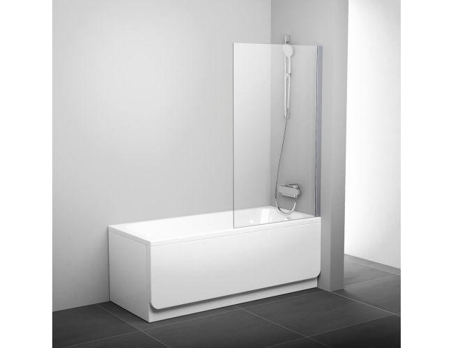 Шторка для ванны PVS 1-80 White Transparent