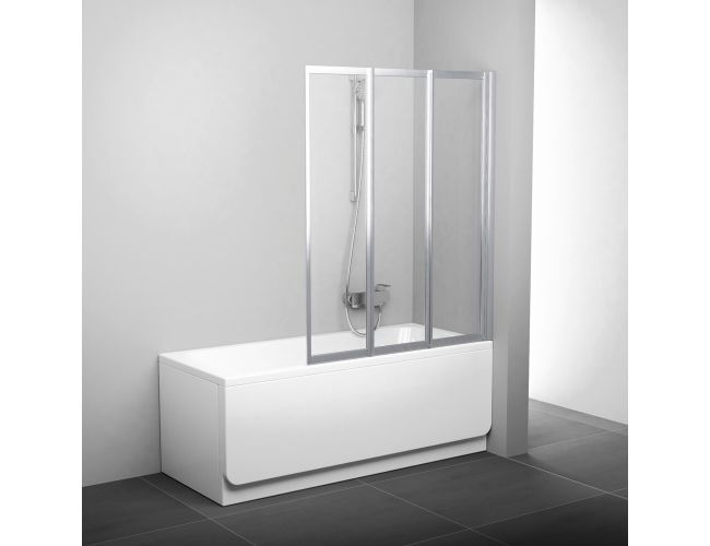 Шторка для ванны VS3 100 satin RAIN