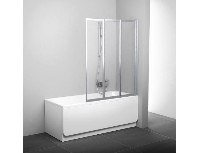 Шторка для ванны VS3 115 satin TRANSPARENT