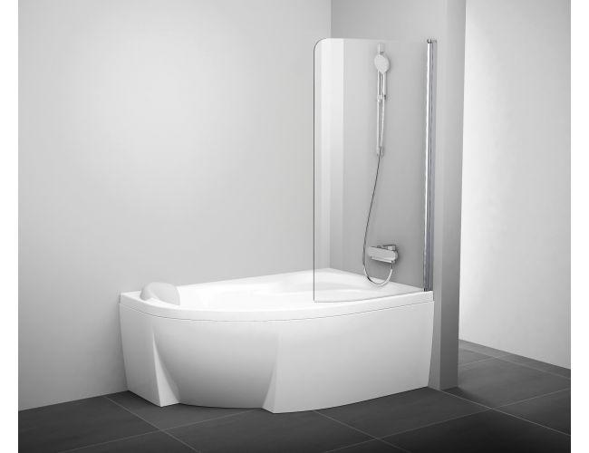 Шторка для ванны  CVSK1- 160/170 R Сатин