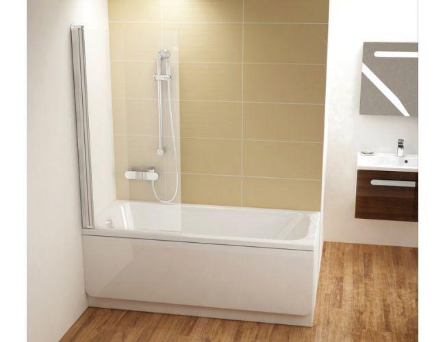 Шторка для ванны CVS1-80 L Белая
