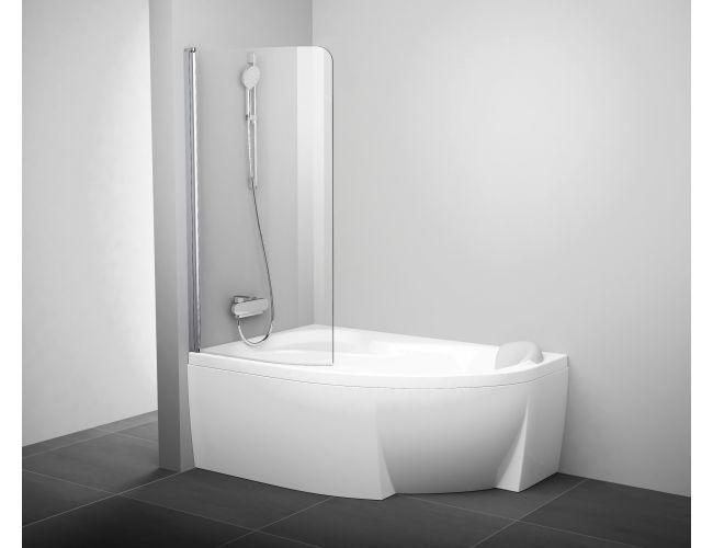 Шторка для ванны  CVSK1- 160/170 L Полир. Алюминий