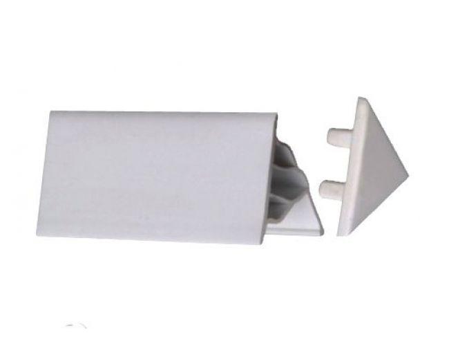 Заглушка белая для декоративной планки 10 мм