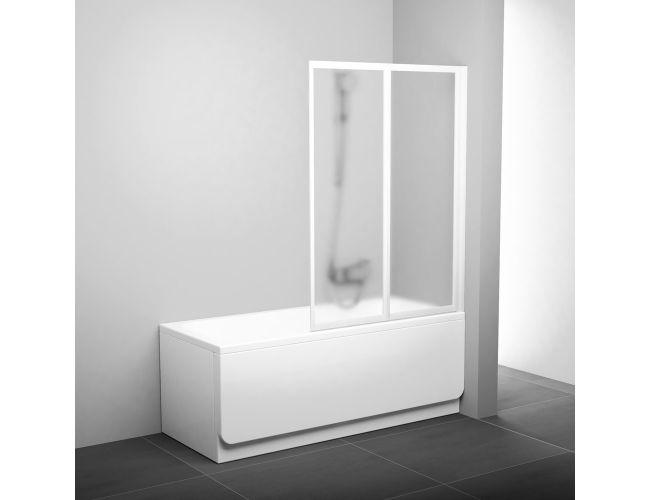 Шторка для ванны VS2  105  white TRANSPARENT