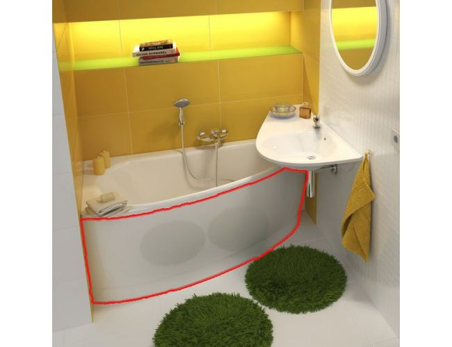 Панель для ванны  AVOKADO 160 L FRONT