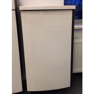 Шкафчик PS Uni оникс/белый (420*370*710)